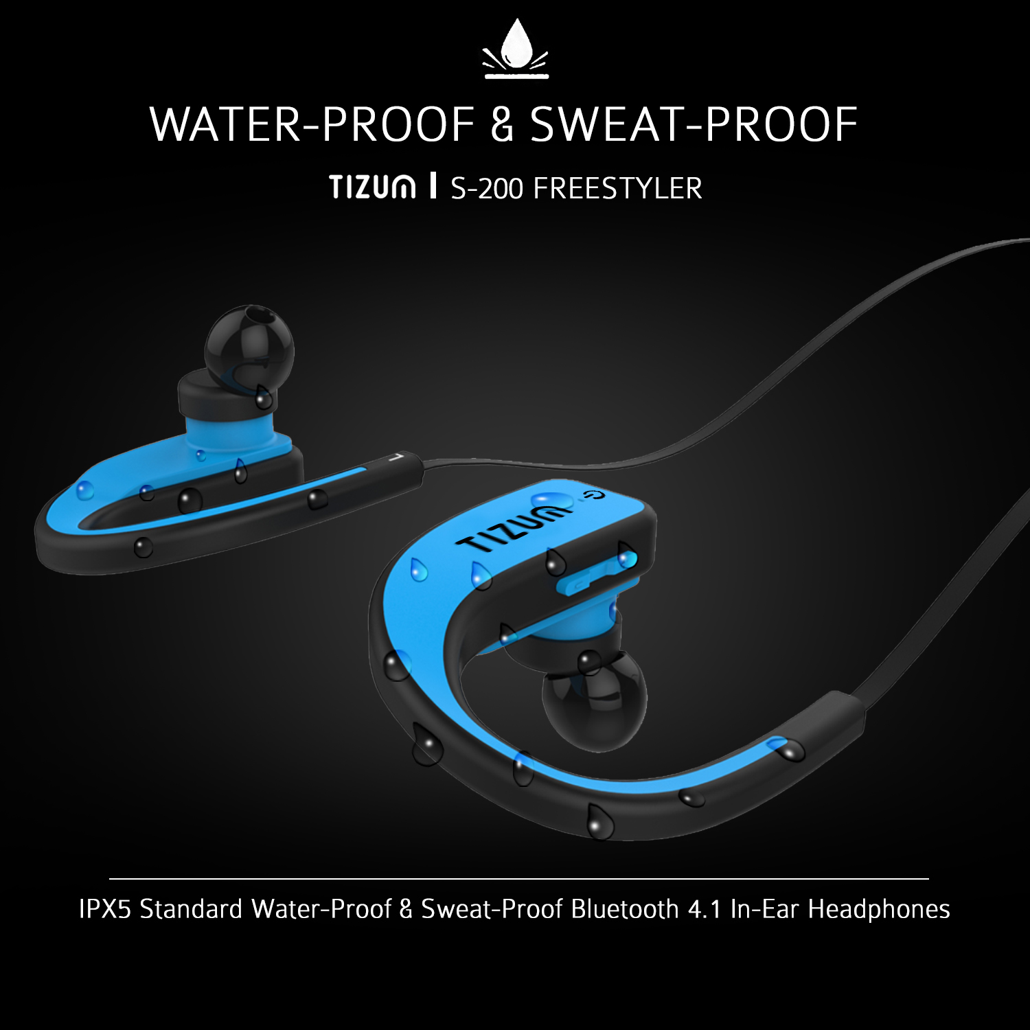 Wireless bluetooth adaptor for headphones - earbuds bluetooth wireless for running